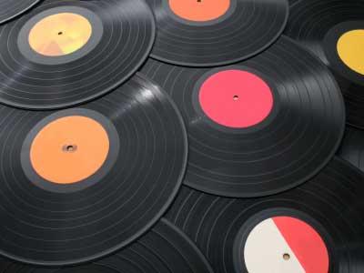 流水线下批量生产的唱片
