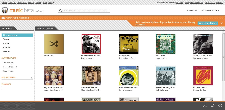 Google Music 界面